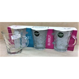 George Butler Pack of 3 Glass Mugs