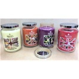 Price's  Luxury Scented Large Jar Candles with Seal Top