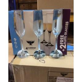 Ravenhead Cabernet Flute Glasses - 20cl -Set of 6