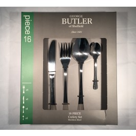 george butler 16 piece bruxelas cutlery set