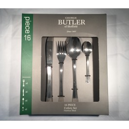 george butler 16 piece veneza cutlery set