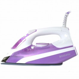 Brabantia 2400W Electric Steam Iron Ceramic Soleplate Self Cleaning In Purple