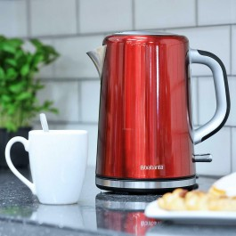 Brabantia Cordless Jug Kettle 1.7L 3kW Stainless Steel In Red