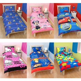 official character duvet covers for children