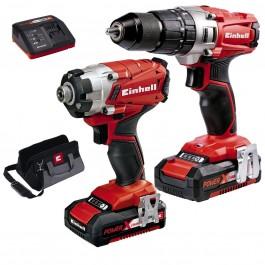 Einhell 4257214 Combi & Drill Driver Twin Pack 18V 2 x 2.0Ah Bat