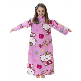 Official Hello Kitty Sleeved Fleece Blanket - Wholesale Clearance Stock