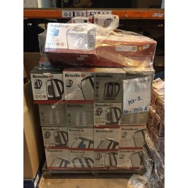 breville electrical appliance returns pallets containing kettles