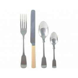 Katie Alice 16 Piece Faux Bone Cutlery Set S/Steel - New Wholesale Stock