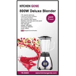 Kitchen Genie 800W Deluxe Blender - New Stock
