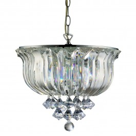 Lighting Collection 600101 Clear Acrylic Pendant Ceiling Light Sparkle 2 Light