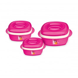Milton Milano Jr 3 Piece Insulated Casserole Dish Set - New Wholesale Stock