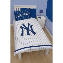 Official New York Yankees Single Duvet Cover - Wholesale Clearance Stock