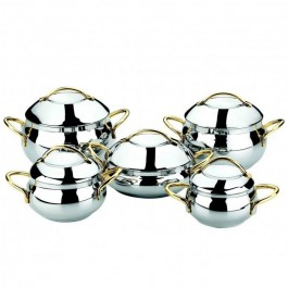 OMS 10 Piece 18/10 S/Steel Cookware Set - New Wholesale Stock
