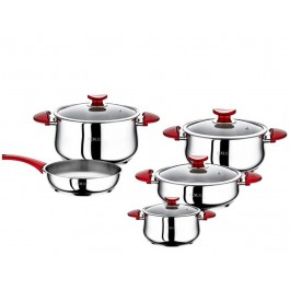 OMS 9 Piece 18/10 S/Steel Cookware Set - New Wholesale Stock