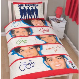 Official One Direction Memorabilia Single Duvet Cover - Buy Bedding Stock