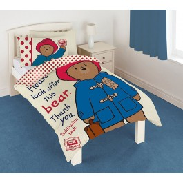 Official Paddington Bear Single Duvet Covers - Wholesale Clearance Stock