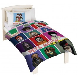 Official Pets Rock Single Duvet Cover - Wholesale Clearance Stock
