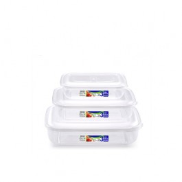 PlasticForte 11684 3 Piece Food Container Set - New Wholesale Stock