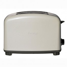 prestige traditional 2 slice toaster in almond