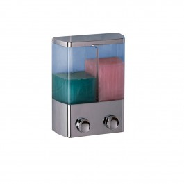 rayen 2024 dual container soap dispenser chromium