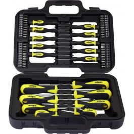 Rolson 28882 58 Piece Screwdriver Set With Storage Case
