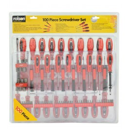 rolson 28890 100 piece screwdriver set