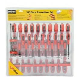 rolson 28890 100 piece screwdriver set