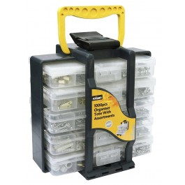 Rolson 61219 1000 Piece Nuts & Bolts Selection In Storage Tote Box  - New Stock
