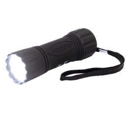 rolson 0.5w led rubber camping torch flashlight 61673