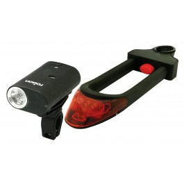 Rolson 66741 3-In-1 Multi Function Bike Bicycle Lock With Lights - New Stock