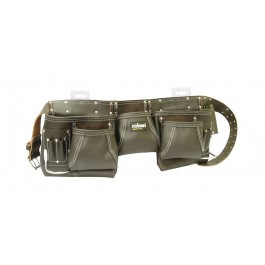 Rolson 68870 13 Pocket Tool Belt Leather In Black - New Stock