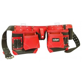 Rolson 68875 14 Pocket Tool Belt Leather Red