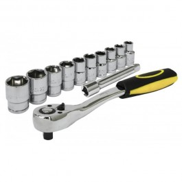 rolson 1/2 ratchet handle and sockets set 12 piece 10-24mm 38653