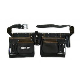 Tools XP Oil Tanned Leather Double Builders Tool Belt  Work Belt