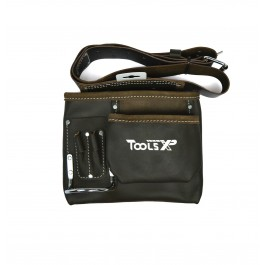 Tools XP Oil Tanned Leather Single Builders Tool Belt Work Belt