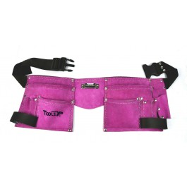 Tools XP Leather Double Tool Belt In Pink Builder Work Belt