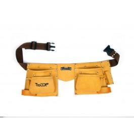 Tools XP Leather Double Builder Tool Belt Work Belt