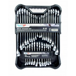 Tools XP 32 Pc Metric SAE Imperial Ring Spanner Set Tool Kit