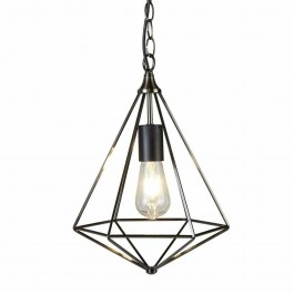 Searchlight 1441SI Diamond Pendant Ceiling Light Antique Silver