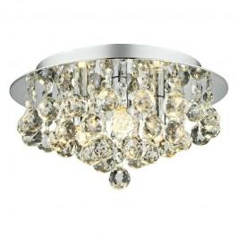 Searchlight 2023-3CC-LED 3 Light Flush Fitting Ceiling Light Droplets
