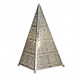Searchlight 6541SS Moroccan Table Lamp Light Shiny Nickel