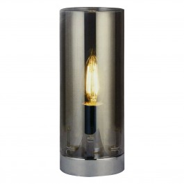 Searchlight 7101SM Cylinder Table Lamp Light Smoked Glass