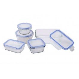 SwissHome SH-7550 Master Lock 5 Piece Glass Storage Box Set - Wholesale Stock