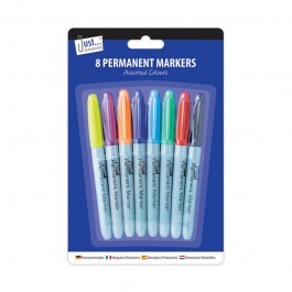 Tallon 5635 Permanent Markers Assorted Colours 8 Pack - New Wholesale Stationary Stock