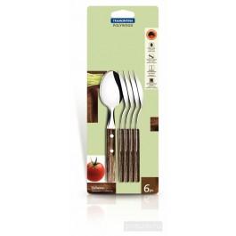 Tramontina 6 Piece Tea Spoon Set Polywood 21107/690 - New