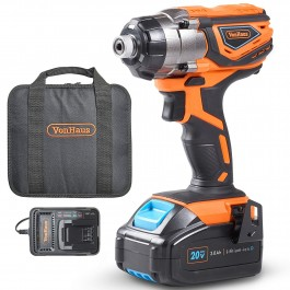 VonHaus US 20V MAX Impact Driver & Kit with 3.0 Ah Battery