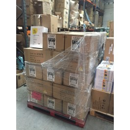 pallets of new wilko floor lamps