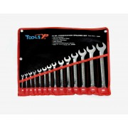 Tools XP 14 Piece Metric Combination Ring Spanner Wrench Set Tool Roll 6-26mm