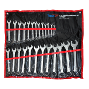 Tools XP 25 Piece Metric Combination Ring Spanner Wrench Set Tool Roll 6-32mm