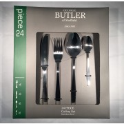 george butler 24 piece europa cutlery set